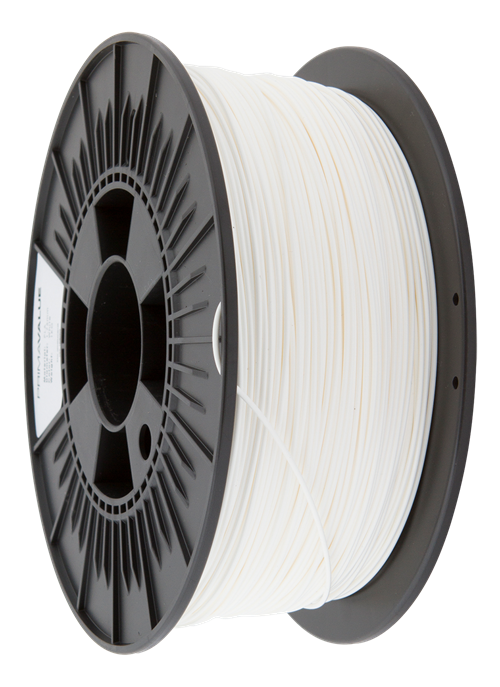 PrimaValue PLA filament for 3D printers, 1.75mm, 1kg spool, cirka 335 meter, white