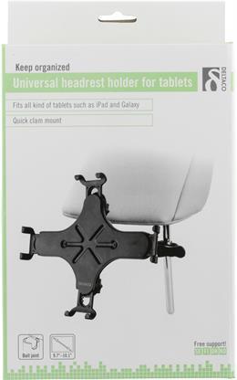 """Universel nakkestøtteholder til tablets op til 10,1"""", kugleled, sort"""