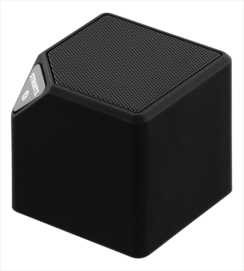 Bluetooth speaker with FM radio and camera shutter.