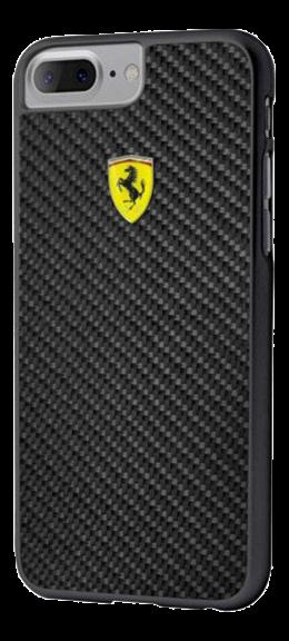 Ferrari Scuderia Carbon, carbon fiber case for Apple iPhone 7/8, black