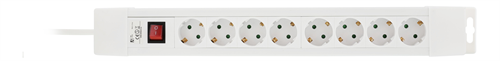 DELTACO power strip with 8xCEE 7/4 outlets