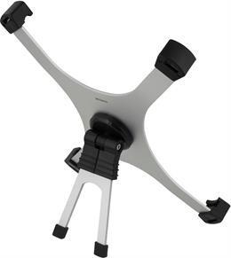 justerbar stander til iPad, trinløs indstilling, sølv