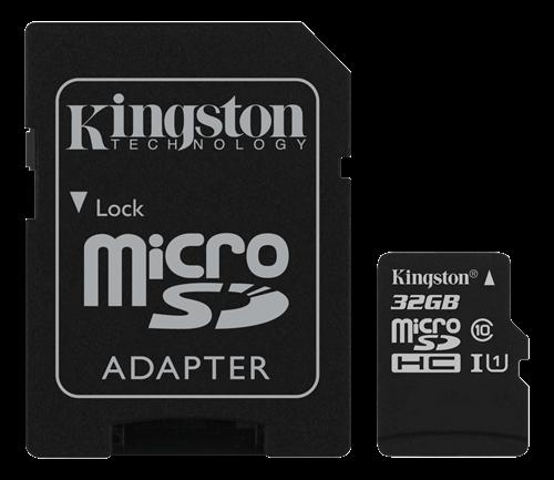 Kingston 32GB microSDHC Class 10