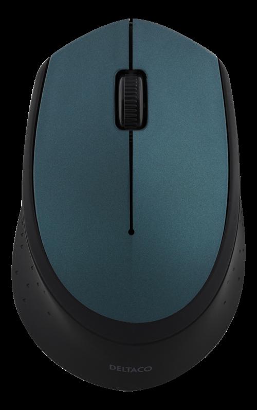 DELTACO trådløs optisk mus 2,4 GHz grøn.