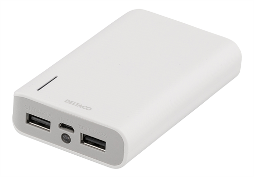 DELTACO Power bank, portable battery for charging mobile units