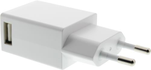 EPZI Væglader 100-240V til 5V USB, 1A, 1xUSB-port, hvid