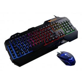 Havit HV-KB558CM Tastatur og mus-sæt Membran Regnbue Kabling Nordisk