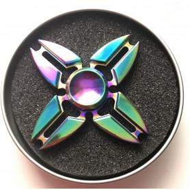 Fidget Spinner star rainbow metal