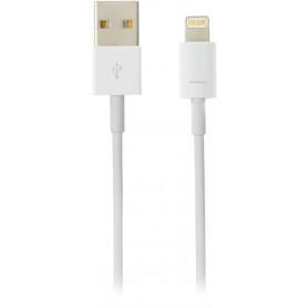 DELTACO USB-synk-/opladerkabel til iPad, iPhone og iPod, MFi, USB Type A han - Lightning han, 2m, hvid