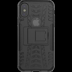 Dazzler Cover til iPhone X, stødabsorberende, udskæringer til varme, sort