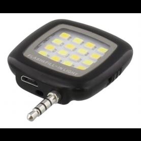 STREETZ Selfie LED flash for smartphones, 3.5mm, black