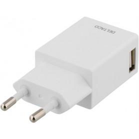 DELTACO Vægoplader 230V til 5V USB, 1A, 1x USB-port, hvid