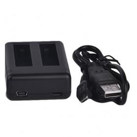 USB dobbelt lader til GoPro hero 4 batterier