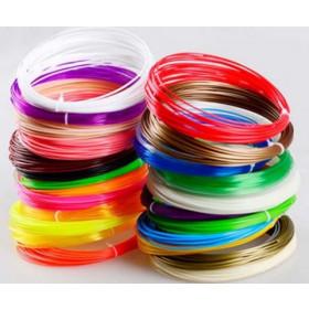 3D Print Filament 1.75 mm PLA. 20 ruller af 10 meter. I alt 200 meter.