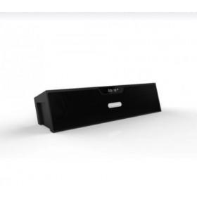 Trådløs Bluetooth stereo højtaler med batteri og radio.