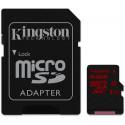 Kingston 64 GB Micro sd kort. Med ekstra hurtigt skriv særlig godt til 4K og 120 fps. Super kort til Action kamera.