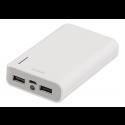 DELTACO Powerbank, bærbart batteri til opladning af mobile enheder, 6000mAh