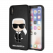 KARL LAGERFELD Embossed Karl case for iPhone X/XS, PU leather, embossed print, black