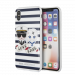 KARL LAGERFELD Karl Sailor Stripes case for iPhone X/XS, hard case, blue
