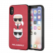 KARL LAGERFELD Karl and Choupette case for iPhone X/XS, embossed print, PU leather, red