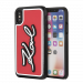 KARL LAGERFELD Signature Karl case for iPhone X/XS, Rubber 3D, PU leather, red