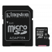 Kingston Canvas Select microSDXC card, 64GB, UHS-I Class 10, incl. SD card adapter, black